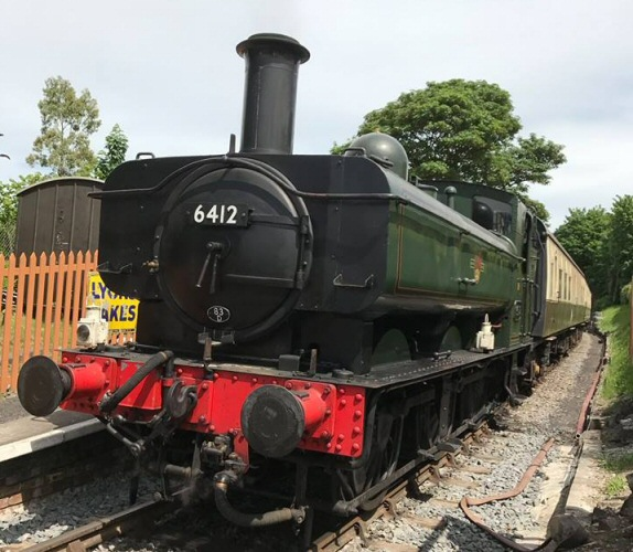 Steam locomotive well preserved